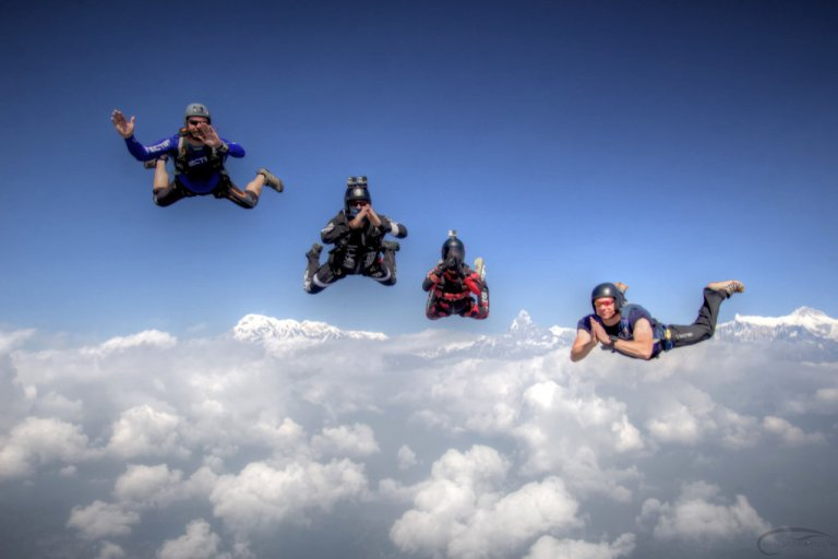Pokhara Skydive Tandem Jump NepalYOU MAY NEVER GET RID OF THE BUTTERFLIES, BUT YOU CAN TEACH THEM HOW TO FLY IN FORMATION. ~AUTHOR UNKNOWN